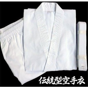 伝統型空手衣 白帯付 0号 返品・交換不可 / 送料無料 初心者 道着 帯 子供 洗濯 おすすめ