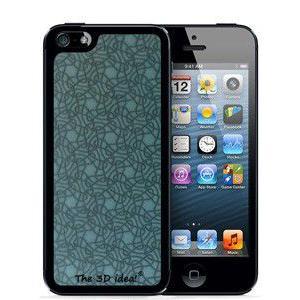 不思議な浮き出る 3Dホログラムスキンシート for iPhone SE 5s/5 Skin BLUE ブルー 青 ラメ 3D-SK-BL1|will-be-mart