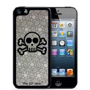 不思議な浮き出る 3Dホログラムスキンシート for iPhone SE 5s/5 Skin SKULL スカル ドクロ 骨 3D-SK-MSC|will-be-mart