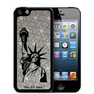 The 3D idea 3Dホログラムスキンシート for iPhone SE 5s/5 Skin USA アメリカ 自由の女神 3D-SK-USA1  |will-be-mart