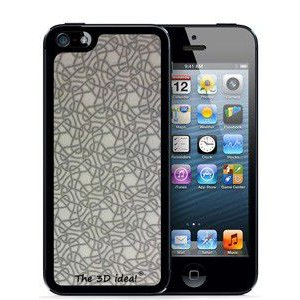 The 3D idea 3Dホログラムスキンシート for iPhone SE 5s/5 Skin WHITE ホワイト 白 シルバー ラメ 3D-SK-WH1|will-be-mart