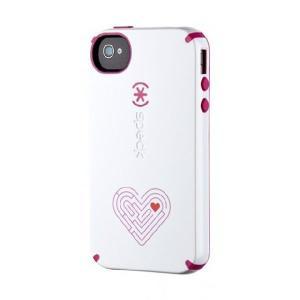 iPhone 4s ケース Speck Products 限定モデル CandyShell アイフォン 4 ケースWhite/Raspberry AmazeMe キャンディーシェル|will-be-mart