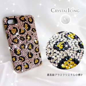 Lux Mobile Classic Leopard, Crystal Case for iPhone 4/4s ケース クラシックレオパルド レパード ヒョウ 豹 ピンクゴールド  Crystal Icing ケース will-be-mart