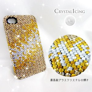 Lux Mobile Gold Fade, Crystal Case for iPhone 4/4s ケース ゴールドフェード グラデーション 金色 クリスタルアイシング Crystal Icing デコ ケース will-be-mart