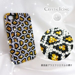 Lux Mobile Snow Leopard, Crystal Case for iPhone 4/4s スノーレオパルド レパード レオパード ヒョウ 豹 クリスタル デコレーション ケース will-be-mart