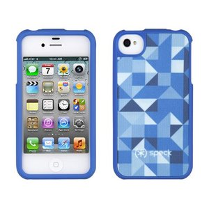 iPhone 4s ケース Speck Products アイフォン 4 ケース Fitted - ShapeScape Blue シェイプスケイプブルー 幾何学模様 三角形|will-be-mart