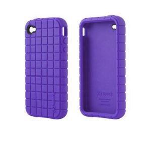iPhone 4s ケース Speck Products シリコンラバー Pixel Skin Purple アイフォン 4 ケース タイルパターン ピクセルスキン パープル|will-be-mart