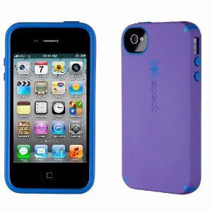 iPhone 4s ケース Speck Products アイフォン 4 ケース  CandyShell Satin - Aubergine/Cobalt オーベルジーヌ、コバルト、パープル、ブルー|will-be-mart