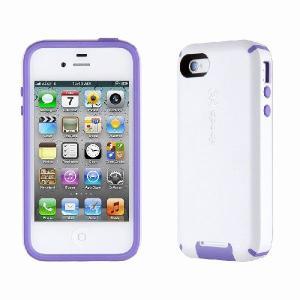 iPhone 4s ケース Speck Products アイフォン 4 ケース CandyShellView - White/Aubergine キャンディーシェルView ホワイト/オーベルジーヌ|will-be-mart