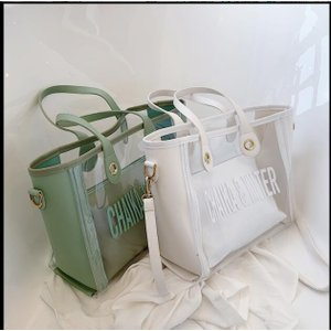 トートバッグレディースクリアバッグショルダーバッグかばんトートバッグ肩掛け手持ちバッグ韓国風おしゃれ鞄通勤透明お洒落30代40代50代|will-style