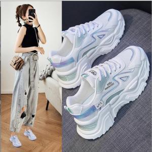 ダッドスニーカー韓国オルチャンストリート原宿系厚底衣装レトロ配色ロゴストラップきれいめ靴シューズ|will-style