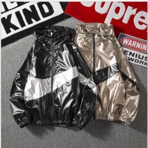 メタリックフルジップアップナイロンパーカージャケット韓国ストリートダンス衣装HIPHOP原宿系フーディー|will-style