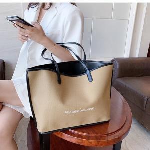 トートバッグ韓国オルチャンストリートきれいめオフィス大容量ビジネス通勤通学原宿系配色ショルダー|will-style