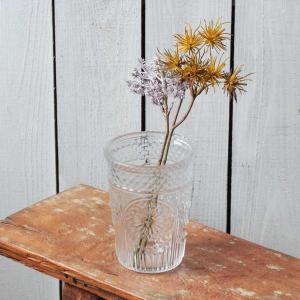 花瓶 おしゃれ ガラス 花びん フラワーベース 花器 レトロ アンティーク 高さ13cm 直径10c...