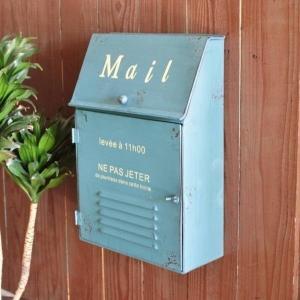 ポスト 郵便受け メールボックス おしゃれ 壁掛け 壁付け 置き型 MAIL BOX POST 蓋 ...