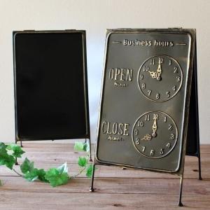 サインスタンド ウェルカムボード サインボード サインプレート 黒板 ブラックボード 玄関飾り ナチュラル アンティーク インテリア 雑貨 アイアンの画像