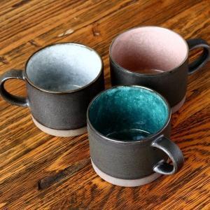 マグカップ コーヒーカップ 美濃焼 塗り分けマグ おしゃれ キッチン用品 和食器 陶器 キッチン雑貨...