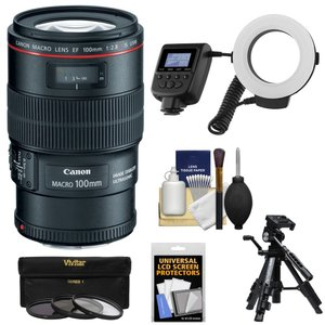 ■製品名: Canon EF 100mm f/2.8 L IS Macro USM Lens wit...