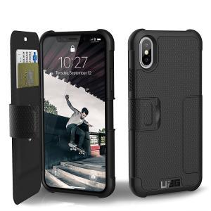 UAG フォリオ iPhone Xs/X  メトロポリス フェザーライト ラグド [BLACK] ミ...