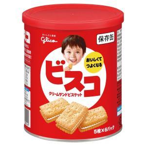 非常食 5年保存 江崎グリコ ビスコ保存缶 30枚入