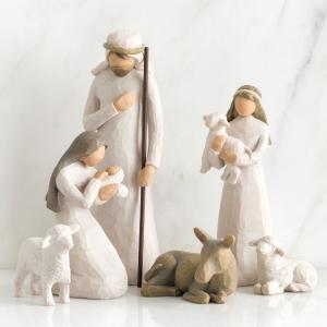 キリスト 降誕セット 馬小屋セット ナティビティ プレゼピオ 置物 ウィローツリー 降誕 高さ23....