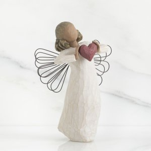 ハート おしゃれな天使の置物 フィギュア 人形 インテリア雑貨 ウィローツリー天使像 愛をこめて 高...