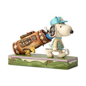 ゴルフ スヌーピーとウッドストック 7.6cm フィギュア 置物 グッズ 人形 雑貨 オブジェ ジム・ショア ピーナッツ|willowtree
