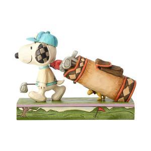 ゴルフ スヌーピーとウッドストック 7.6cm フィギュア 置物 グッズ 人形 雑貨 オブジェ ジム・ショア ピーナッツ|willowtree|02