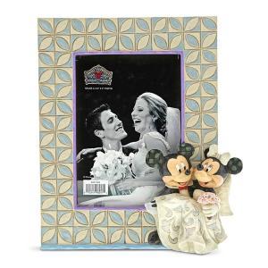ミッキー ミニー フォトフレーム L判サイズ ウェディング 18.4cm ディズニー フィギュア 置物 グッズ トラディションズ 人形 雑貨 オブジェ ジム・ショア