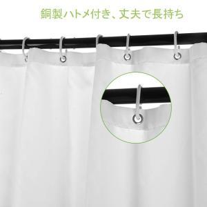 OTraki シャワーカーテン 防水 幅120×高さ180cm ユニットバスカーテン PET ポリエステル 素材 清潔感 バス用品 お風呂 willy-willy-zakka