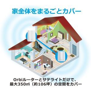 NETGEAR 802.11ac Wi-Fiシステム(ルーター・サテライトセット)RBK50-100...