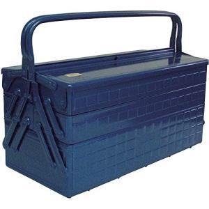 TRUSCO(トラスコ) 3段式工具箱 472X220X343 ブルー GT-470-B|willy-willy-zakka