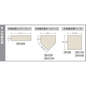 ZETT(ゼット) 少年野球 軟式 ホームベース ZBV510H 厚み10mm willy-willy-zakka