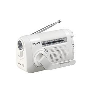 ソニー SONY ポータブルラジオ ICF-B09 : FM/AM/ワイドFM対応 手回し充電対応 ...