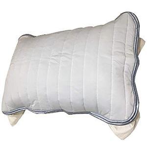 東京西川 クール枕パッド ブルー 63X43cmのサイズの枕用 接触冷感 触るとひんやり やわらかタ...