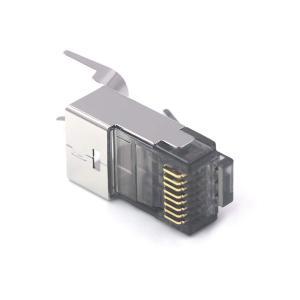 VCE25個セットシールド RJ45コネクタ CAT6/CAT6a/CAT7対応LANケーブルコネク...