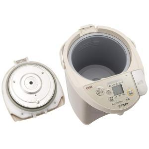 タイガー 魔法瓶 電気 ポット 2.2L ベージュ 節電 VE 保温 とく子さん PIK-A220-...