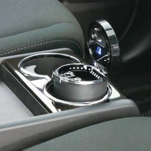 ナポレックス 車用 灰皿 Fizz センサーイルミアッシュ ブラック LED付 クリッククリーン機能...