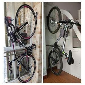 自転車壁掛けフック サイクルフック バイク ディスプレイスタンド 耐荷30kg 壁 縦置き 固定 自...