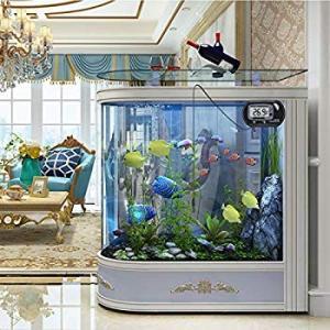 UEETEK LCD デジタル水温計 水槽 温度計 デジタル 吸盤付 金魚鉢 爬虫類テラリウム 水槽 水温管理 2個セット ブラック|willy-willy-zakka