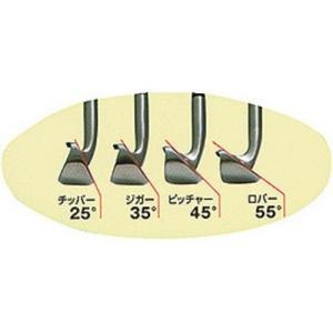 チッパー(25°)は、転がし専用アプローチ ジガー(35°)は、上げて転がすピッチ&ラン ピッチャー...