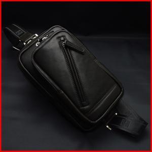 ボディバッグ ワンショルダーバッグ 本革 馬革 HAMILTON メンズ 16375(クロ)|windingys