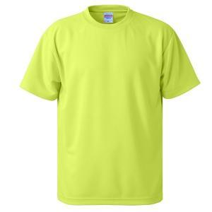 【商品名】 UVカット・吸汗速乾・5枚セット・4.1オンスさらさらドライ Tシャツ蛍光 イエロー X...