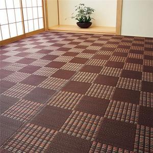 【商品名】 い草風 ラグマット/絨毯 【ブラウン 本間8畳 382cm×382cm】 日本製 ポリプ...