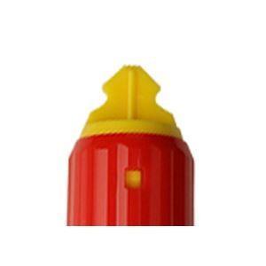 (まとめ) ゼブラ 油性マーカー マッキーワーク角芯太字+丸芯細字 赤 P-YYT21-R 1本 〔×30セット〕 ペン 万年筆 windingys 03