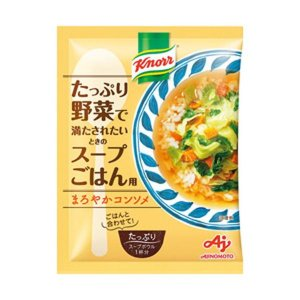【商品名】 (まとめ)味の素 クノール たっぷり野菜で満たされたいときのスープごはん用 まろやかコン...