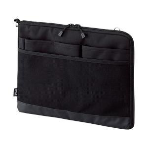 (まとめ) リヒトラブ SMART FITACTACT バッグインバッグ (ヨコ型) A4 ブラック A-7681-24 1個 〔×10セット〕|windingys|01
