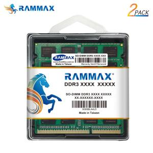 3853 RAMMAX PC3-12800 1.35V(低電圧:)/1.5V対応 RM-SD1600-D8GB SO-DIMM 1600MHz 4GB X 2枚セット 204ピン ノートパソコンメモリー【メール便限定送料無料】