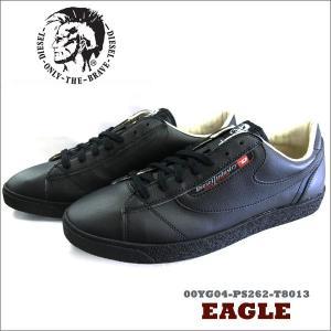 【DIESEL】ディーゼル メンズ スニーカーシューズ EAGLE ブラック 00YG04-PS262-T8013|windpal