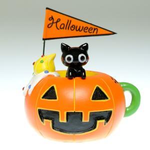 Halloween 手作りガラス細工のハロウィン飾り パンプキンマグニャン CNLMK02|windpal